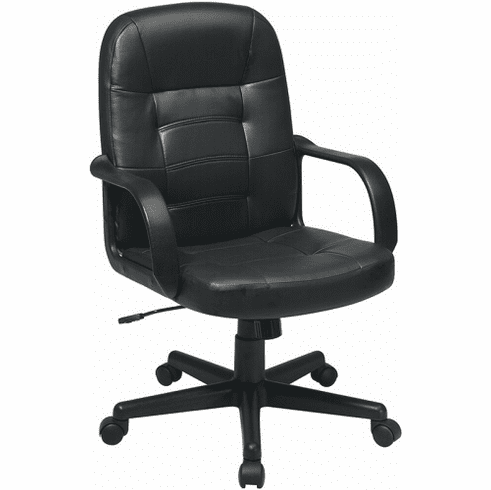 Work Smart Eco Leather Mid Back Office Chair [EC3393]