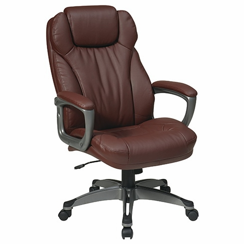 Work Smart Eco Leather Office Chair with Headrest [ECH85807]