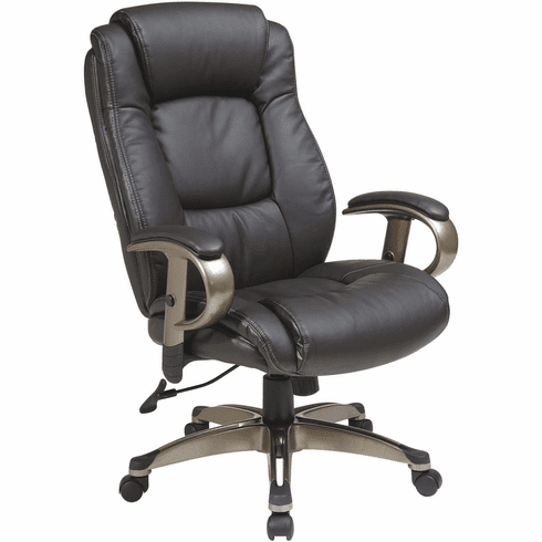 Work Smart™ Executive Bonded Leather Chair Cocoa / Espresso [ECH52661-EC1]