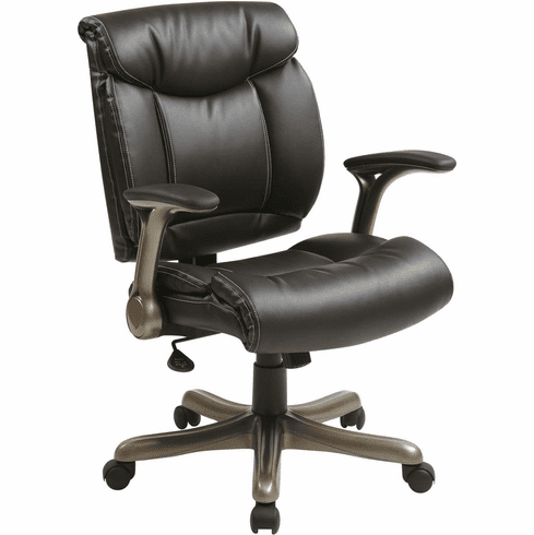 Work Smart™ Executive Bonded Leather Chair Cocoa / Espresso [ECH8967K5-EC1]