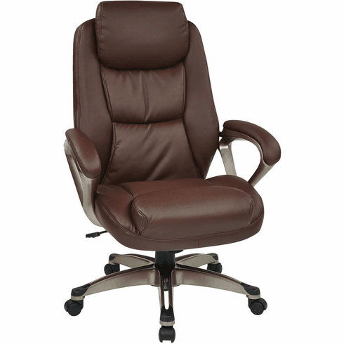Work Smart™ Executive Cocoa / Wine Leather Chair [ECH89181-EC6]
