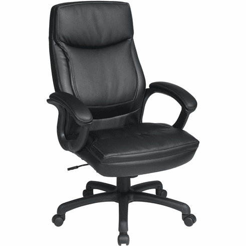 Work Smart™ Executive High Back Black Bonded Leather Chair [EC6582-EC3]