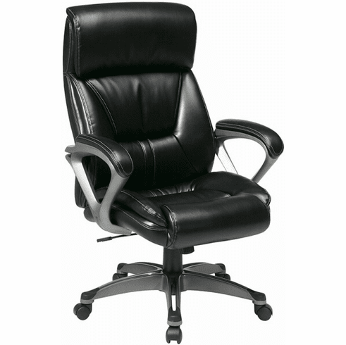 Work Smart Executive High Back Eco Leather Chair [ECH89307]