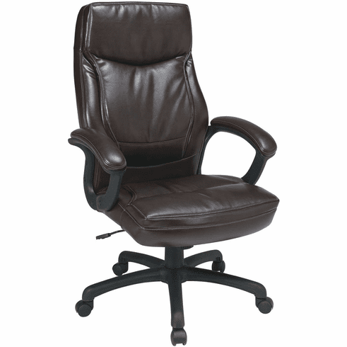 Work Smart™ Executive High Back Mocha Bonded Leather Chair [EC6582-EC9]