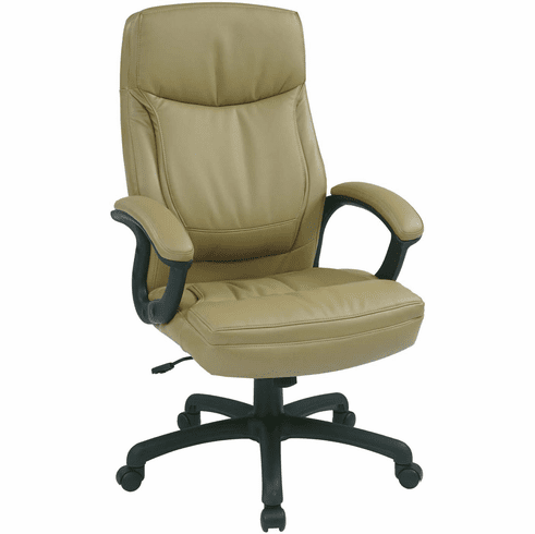 Work Smart™ Executive High Back Tan Leather Chair [EC6583-EC21]