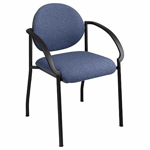Work Smart Fabric Stacking Chair with Arms [STC3410]