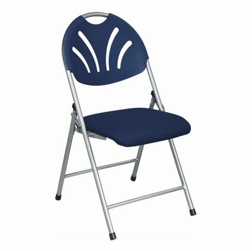 Work Smart Fan Back Fabric Folding Chair /4 Pack [FC8100NS]