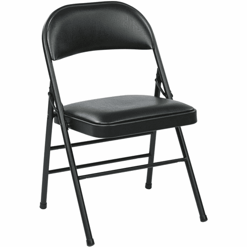 Work Smart™ Folding Chair Black Vinyl Set of 4 FF-23324V [FF-23324V]