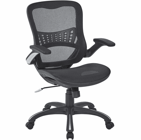Work Smart™ Mesh Manager's Chair in Black [69906-3]