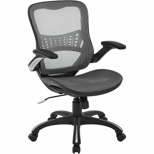 Work Smart™ Mesh Manager's Chair in Grey [69906-2]