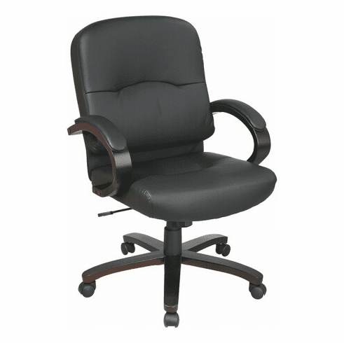 Work Smart Mid Back Eco Leather Office Chair [WD5381]