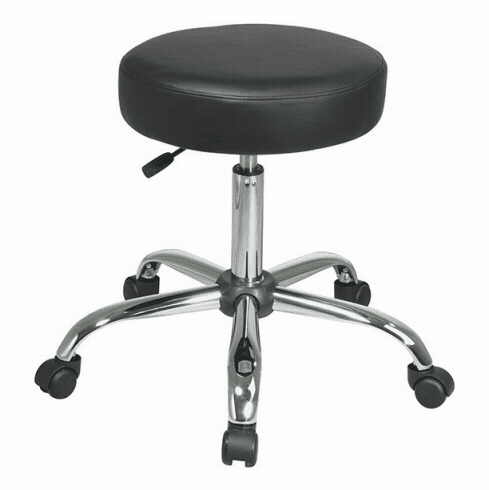 Work Smart Office Exam Stool with Chrome Finish [ST428V]