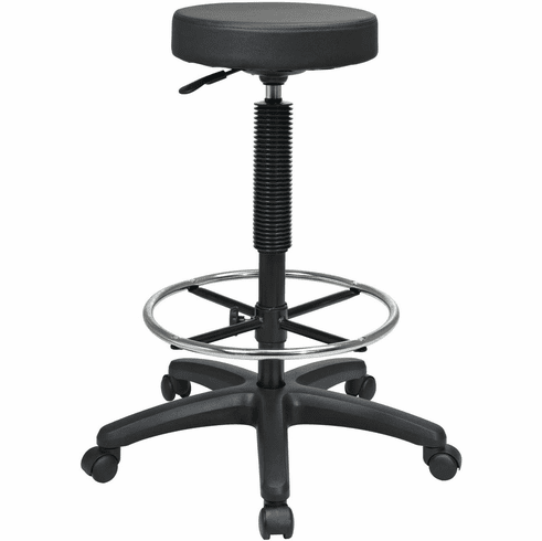 Work Smart Pneumatic Drafting Chair Backless St217