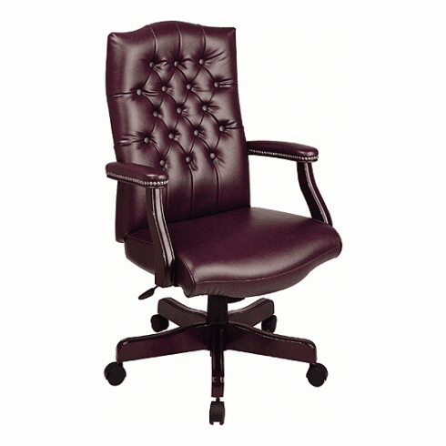 Work Smart Traditional Executive Chair with Padded Arms [TEX232]