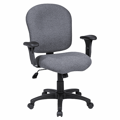 Work Smart Upholstered Office Chair with Adjustable Arms [SC66]