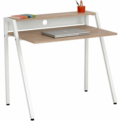 Writing Desk Beech Top White Frame [1951WH]