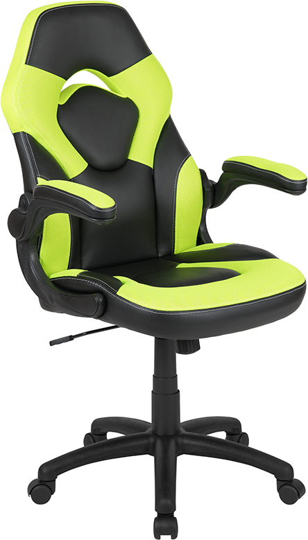 Amazing X10 Neon Green Black Gaming Chair Racing Adjustable Swivel Chair Flip Up Arms Ch 00095 Gn Gg Ocoug Best Dining Table And Chair Ideas Images Ocougorg