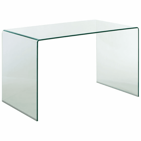 Zuo Caravan Desk Clear Tempered Glass [404082]