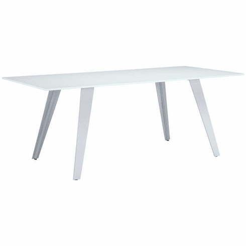 Zuo House Conference Table White Tempered Glass [100252]