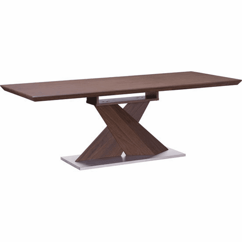 Zuo Jaques Conference Table Walnut, Stainless Steel [107859]