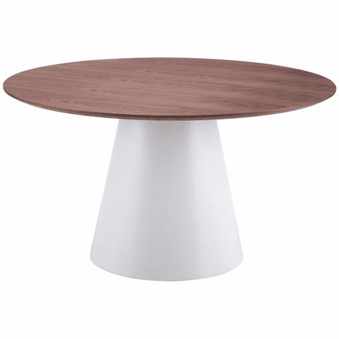 Zuo Query Conference Table White & Walnut [100271]