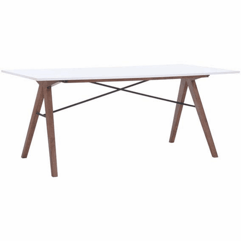 Zuo Saints Conference Table Walnut & White [100143]