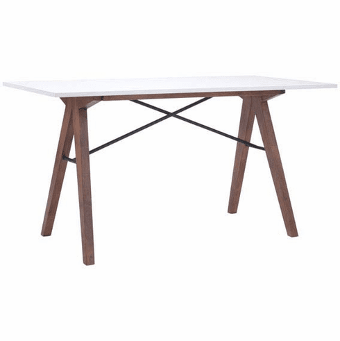 Zuo Saints Desk Walnut & White [100147]
