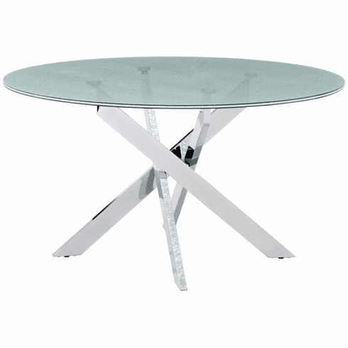 Zuo Stance Conference Table Crackled Tempered Glass [102139]