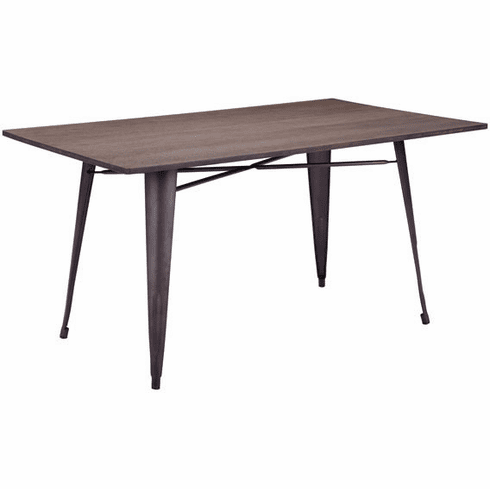 Zuo Titus Rectangular Conference Table Rustic Wood [109127]