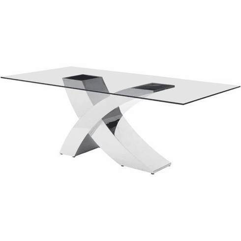 Zuo Wave Conference Table Glass Stainless Steel [100350]