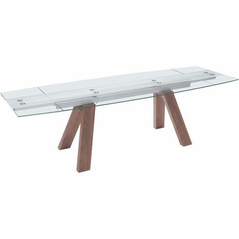 Zuo Wonder Conference Table Walnut, Tempered Glass [100263]