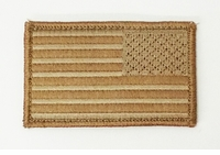 Clearance Reverse US Flag - Desert Tan - Velcro Backed