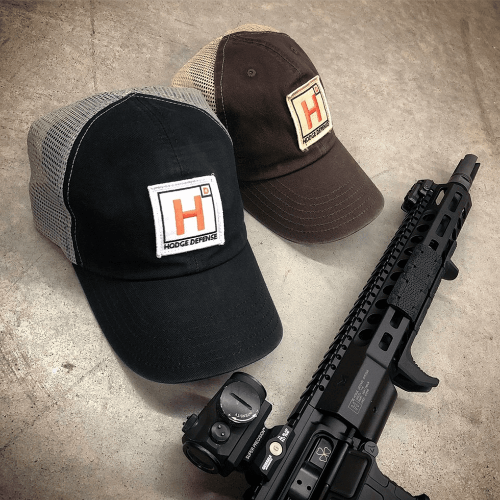 Hodge Defense Washed Trucker Patch Hat
