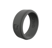 QALO Mens Step Edge Silicone Ring