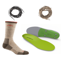 Laces/Gaiters, Socks, and Insoles