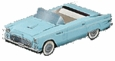 56 Ford Thunderbird Decade Candy Gift Box - Blue