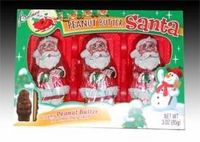 Chocolate Santa Filled With Peanut Butter