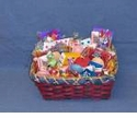 Christmas Gift  Basket Filled With Nostalgic Candy