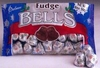 Fudge Filled Chocolate Christmas Bells