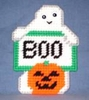 Ghost Refrigerator Magnet In Plastic Canvas