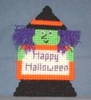 Halloween Witch Magnet - Plastic Canvas