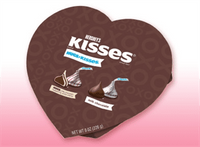 Hershey Hugs and Kisses In A Heart Shaped Box