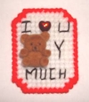 Love You Beary Much Plastic Canvas Magnet