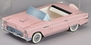 Pink 56 Ford T Bird Classic  Car With Nostalgic Candy