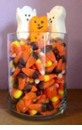 Quick and Easy Halloween Candy Centerpiece