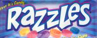 Razzles  Candy - Razzle Bubble Gum -  1 Pack