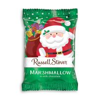 Russell Stover Marshmallow Candy In Santa Wrapper - 1