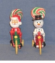 Snowman Or Santa Biker Buddie Novelty Christmas Candy