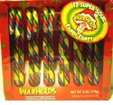 Warheads Candy Canes