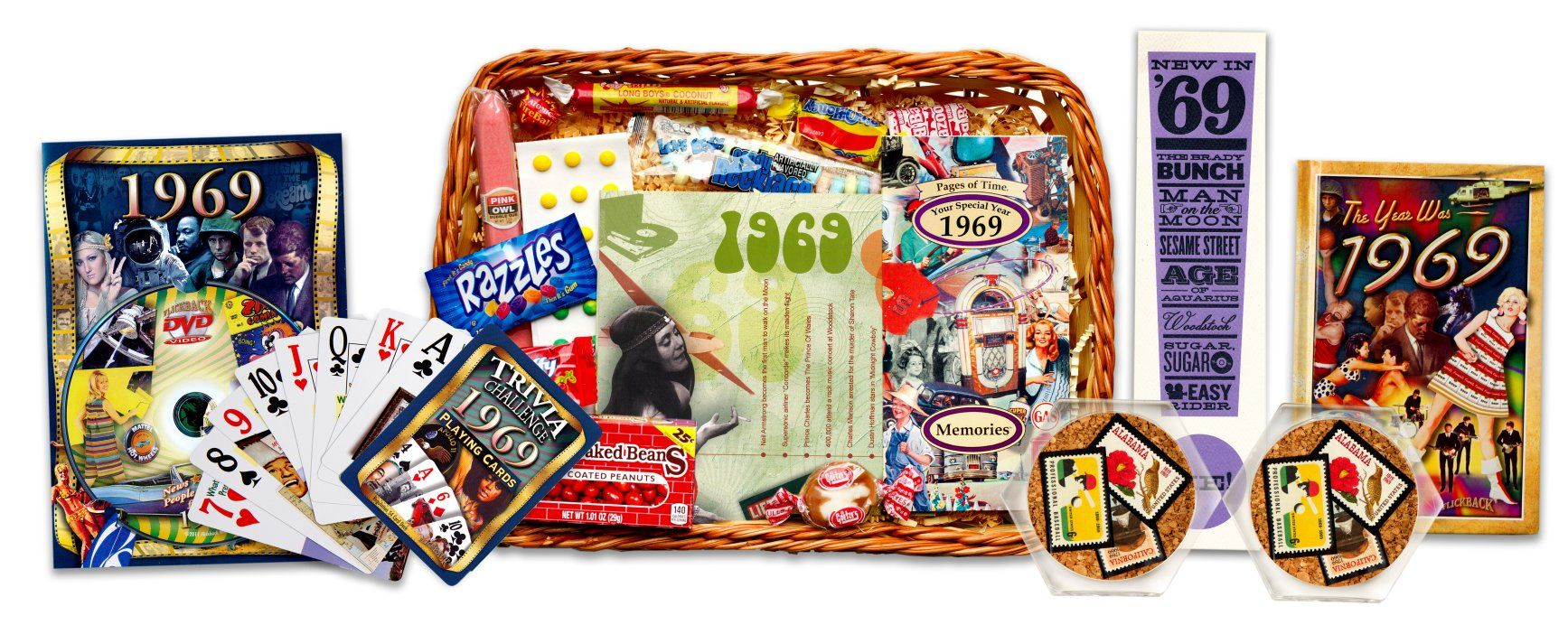 50th Gift Basket With Stamps For 1969